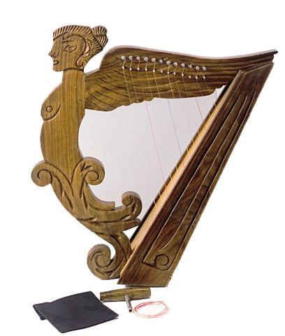 12 string Angel Shape Harp rose wood 21 inches Tall New