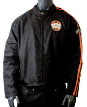Load image into Gallery viewer, MOTORCYCLE WEATHER JACKET ORANGE ON BLACK CHEST SIZES 46-STURGIS MIDWEST INC.