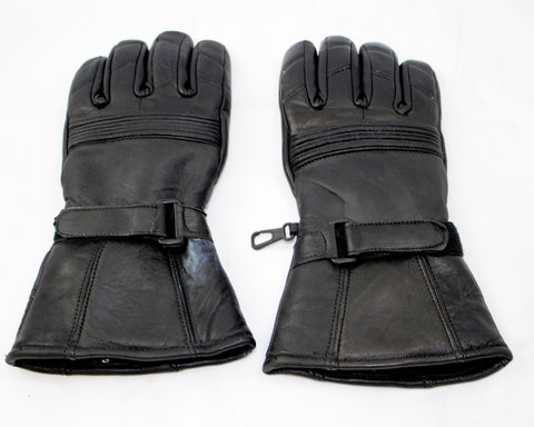 motorcycle genunie leather gloves black size s