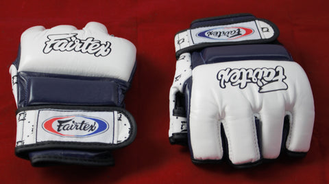 Fairtex sparing mma gloves blue white and red XL