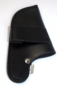 Black leather knife cover sheath for 4 inch knife cover-STURGIS MIDWEST INC.