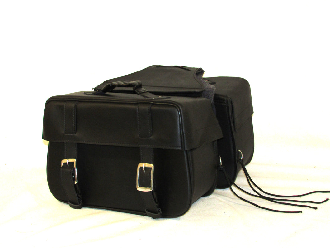 Saddlebags Zip off Velcro Closure on Lid Two Strap with Quick Release Buckles SAD103-STURGIS MIDWEST INC.
