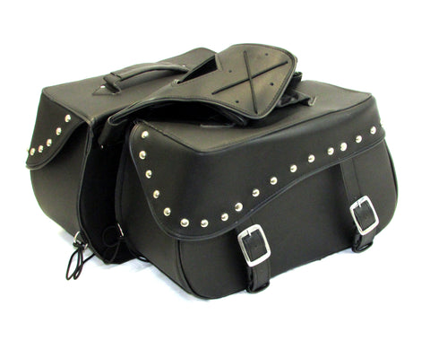 Motorcycle Saddlebag Two Strap with Quick Release Buckles Shielded Bottom SAD216S