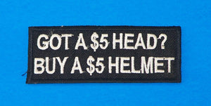 Got a Five Dollar Head Small Iron on Patch for Biker Vest SB1050-STURGIS MIDWEST INC.