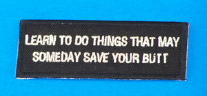 Learn to do Things Small Iron on Patch for Biker Vest SB1052-STURGIS MIDWEST INC.