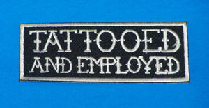 Tattooed White on Black Small Iron on Patch for Biker Vest SB1065-STURGIS MIDWEST INC.