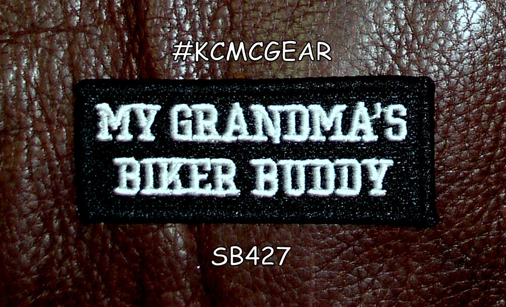 MY GRANDMA'S BIKER BUDDY for Children Motorcycle biker Patches sew on jacket ves-STURGIS MIDWEST INC.