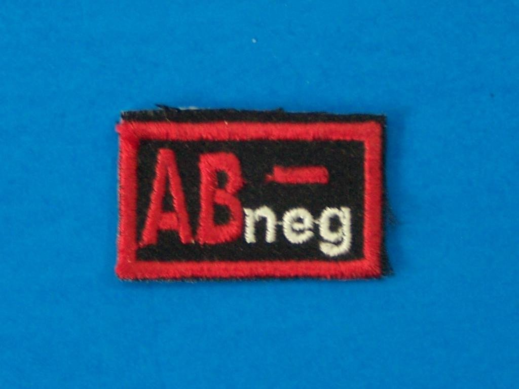 Blood Group Type AB Negative AB- Biker medical Information Patch for Vest Jacket-STURGIS MIDWEST INC.