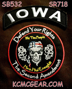 IOWA DEFEND YOUR RIGHTS THE SECOND AMENDMENT JACKET 2 PATCH SET-STURGIS MIDWEST INC.