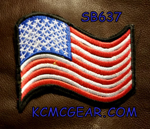 USA FLAG WAVING Small Patch for Vest jacket SB637-STURGIS MIDWEST INC.
