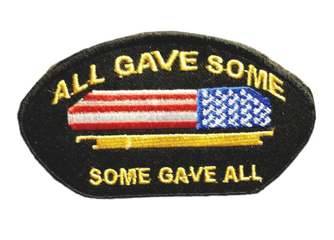ALL GAVE SOME, SOME GAVE ALL Oval Small Patch for Vest jacket SB640