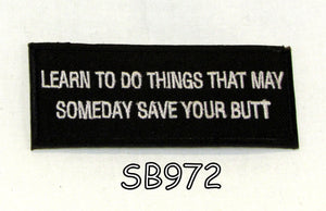 Learned two things Iron on Small Patch for Motorcycle Biker Vest SB972-STURGIS MIDWEST INC.