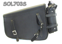 Load image into Gallery viewer, Two strap Synthetic leather swing arm bag three adjustable strap mounting SOL703S-STURGIS MIDWEST INC.