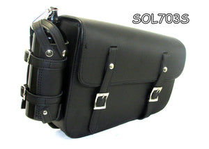 Two strap Synthetic leather swing arm bag three adjustable strap mounting SOL703S-STURGIS MIDWEST INC.