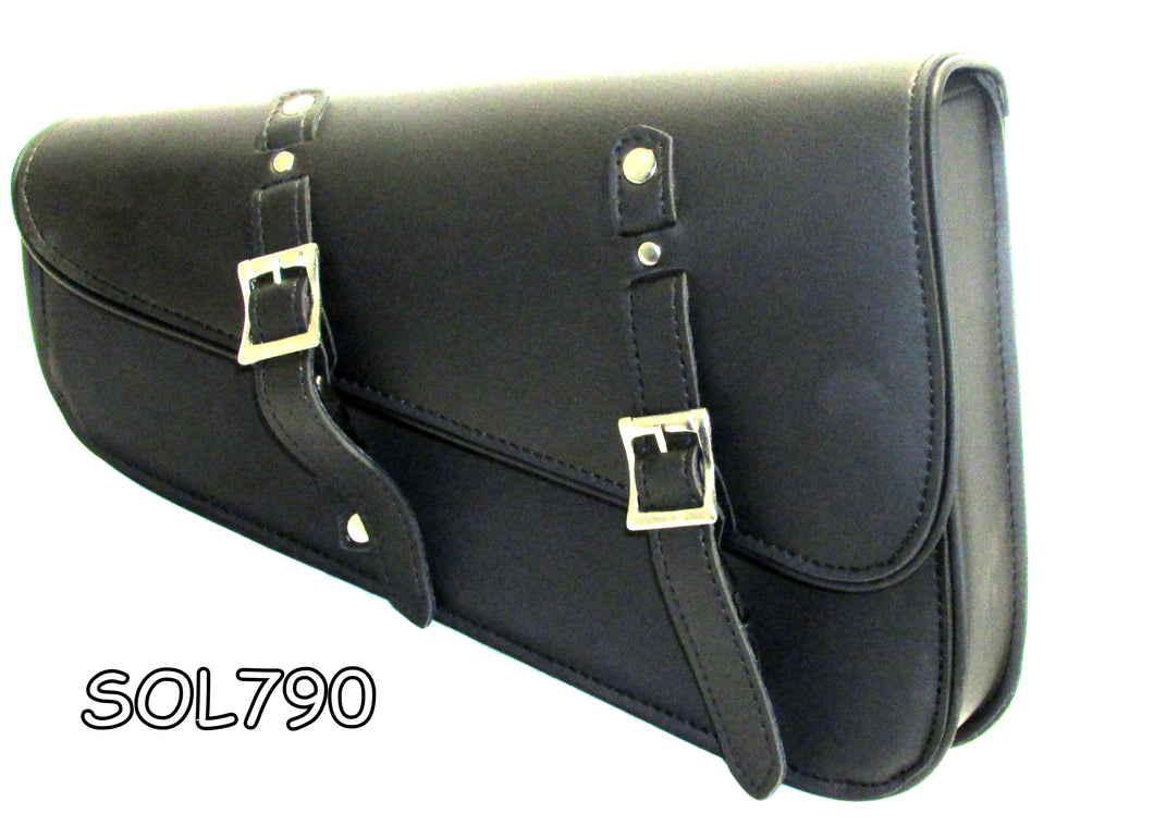 Synthetic leather two strap swing arm bag with quick release buckles SOL790-STURGIS MIDWEST INC.