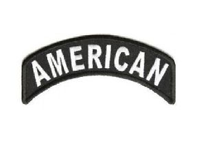 AMERICAN Rocker Patch Small Embroidered Motorcycle NEW Biker Vest Patch-STURGIS MIDWEST INC.