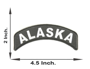 Alaska Rocker Patch Small Embroidered Motorcycle NEW Biker Vest Patch-STURGIS MIDWEST INC.