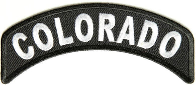 Colorado Rocker Patch Small Embroidered Motorcycle NEW Biker Vest Patch-STURGIS MIDWEST INC.