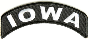 Iowa Rocker Patch Small Embroidered Motorcycle NEW Biker Vest Patch-STURGIS MIDWEST INC.
