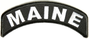 Maine Rocker Patch Small Embroidered Motorcycle NEW Biker Vest Patch-STURGIS MIDWEST INC.