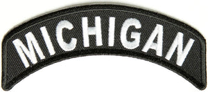 Michigan Rocker Patch Small Embroidered Motorcycle NEW Biker Vest Patch-STURGIS MIDWEST INC.