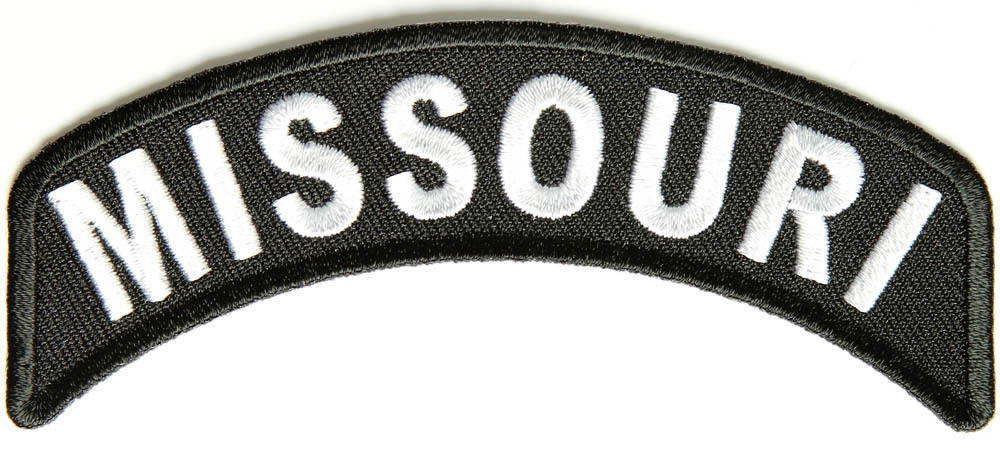 Missouri Rocker Patch Small Embroidered Motorcycle NEW Biker Vest Patch-STURGIS MIDWEST INC.