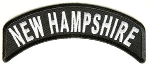 New Hampshire Rocker Patch Small Embroidered Motorcycle NEW Biker Vest Patch-STURGIS MIDWEST INC.