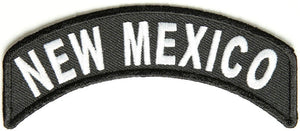 New Mexico Rocker Patch Small Embroidered Motorcycle NEW Biker Vest Patch-STURGIS MIDWEST INC.