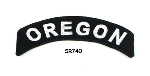 Oregon Rocker Patch Small Embroidered Motorcycle NEW Biker Vest Patch-STURGIS MIDWEST INC.