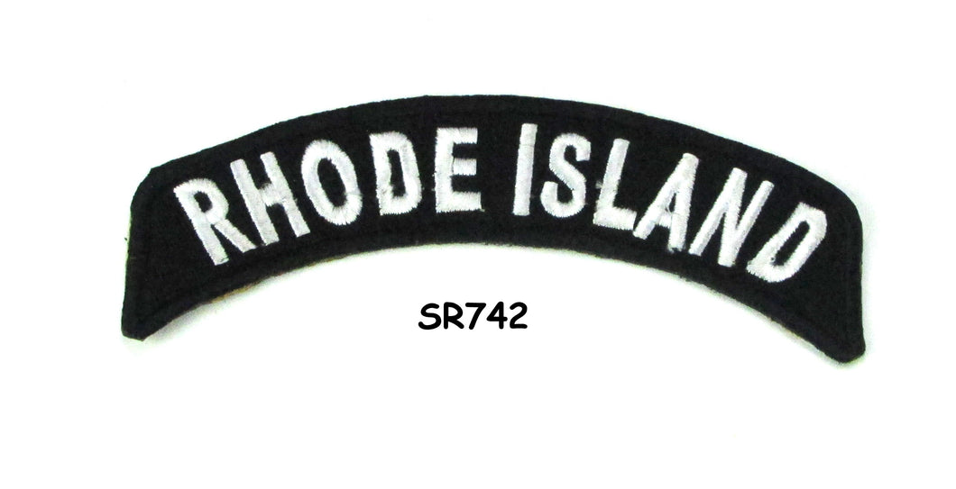 Rhode Island Rocker Patch Small Embroidered Motorcycle NEW Biker Vest Patch-STURGIS MIDWEST INC.