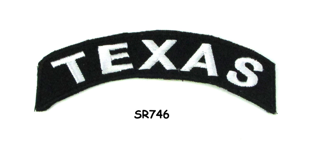 Texas Rocker Patch Small Embroidered Motorcycle NEW Biker Vest Patch-STURGIS MIDWEST INC.