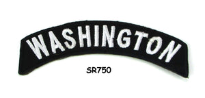 Washington Rocker Patch Small Embroidered Motorcycle NEW Biker Vest Patch-STURGIS MIDWEST INC.