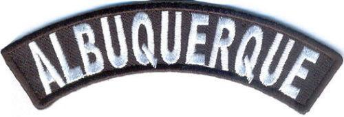 Albuquerque Rocker Patch Small Embroidered Motorcycle NEW Biker Vest Patch-STURGIS MIDWEST INC.