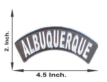 Load image into Gallery viewer, Albuquerque Rocker Patch Small Embroidered Motorcycle NEW Biker Vest Patch-STURGIS MIDWEST INC.