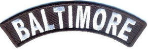Baltimore Rocker Patch Small Embroidered Motorcycle NEW Biker Vest Patch-STURGIS MIDWEST INC.