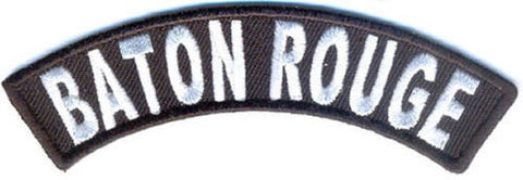 Baton Rouge Rocker Patch Small Embroidered Motorcycle NEW Biker Vest Patch