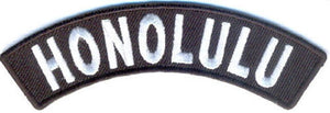Honolulu Rocker Patch Small Embroidered Motorcycle NEW Biker Vest Patch-STURGIS MIDWEST INC.