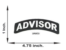 Load image into Gallery viewer, Advisor White on Black Small Rocker Iron on Patches for Biker Vest and Jacket-STURGIS MIDWEST INC.