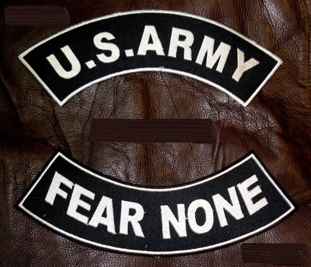 Military Patch Set U.S. Army Fear None Embroidered Patches Sew on Patches for Jackets-STURGIS MIDWEST INC.