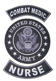 US ARMY COMBAT MEDIC NURSE BACK PATCHES FOR VETERAN VET BIKER VEST JACKET-STURGIS MIDWEST INC.