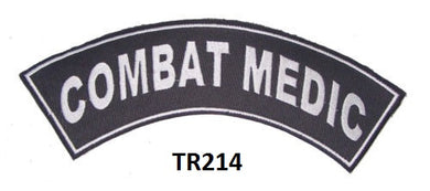 COMBAT MEDIC PATCH ROCKER FOR BIKER VETERAN VEST JACKET NEW-STURGIS MIDWEST INC.