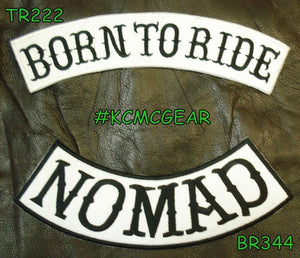 BORN TO RIDE NOMAD Rocker Patches Set for Biker Vest TR222-BR344-STURGIS MIDWEST INC.