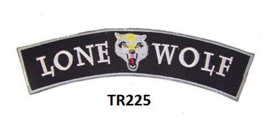 LONE WOLF PATCH ROCKER FOR BIKER MOTORCYCLE PATCH FOR VEST JACKET NEW-STURGIS MIDWEST INC.