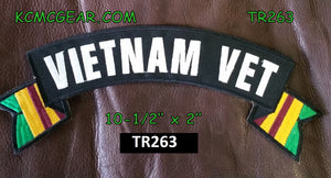 Embroidered Military Patch Vietnam Vet Motorcycle Motorbike Patch panel Banner-STURGIS MIDWEST INC.