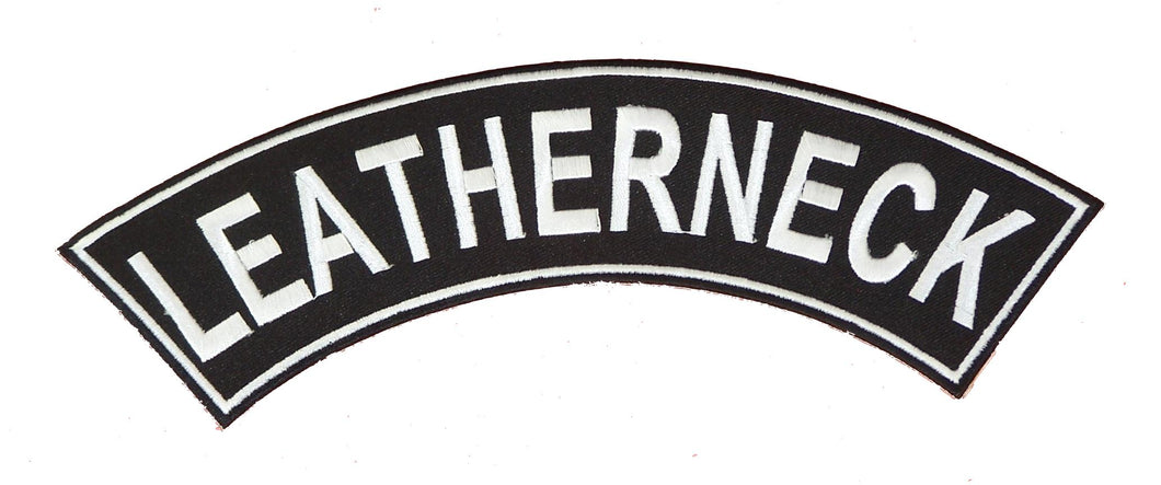 Leatherneck White on Black Top Rocker Iron on Patch for Motorcycle Biker Vest TR366-STURGIS MIDWEST INC.