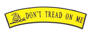 DON'T TREAD ON ME PATCH ROCKER TEA PARTY PATRIOT RIDERS PATCHES-STURGIS MIDWEST INC.