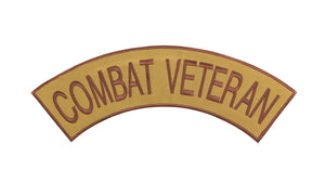 Combat Veteran Iron on Top Rocker Patch for Biker Vest Jacket TR380