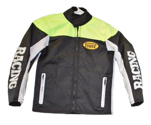 motorcycle kids jacket green/black Usa mode motor usa classics size 2
