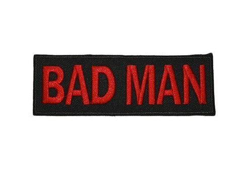 Bad Man Patch Red and black Biker Motorcycle vest jacket Patches Funny