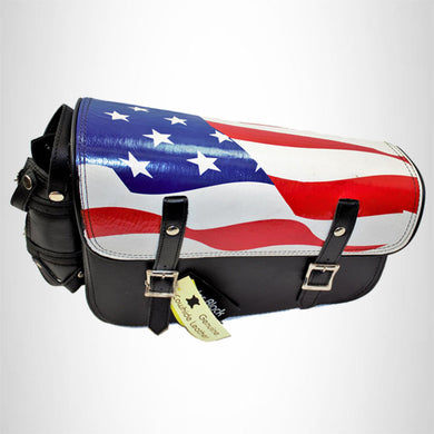 Motorcycle Solo Bag American Flag Design on Black SOL192